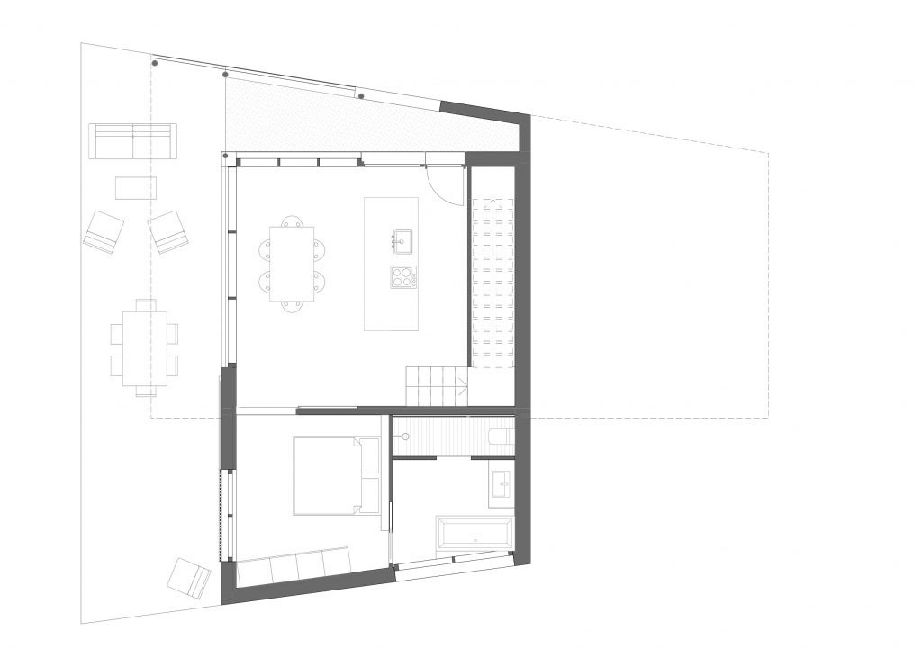 BUD Arquitectura - Casas sanas. Casa Gaia. Casa sostenible, ecoeficiente de madera, planta baja